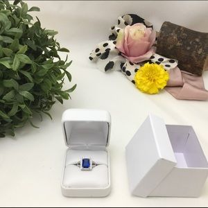 Jewelry - 🛑46% OFF⁉️Sterling Silver Blue Sapphire Crystal